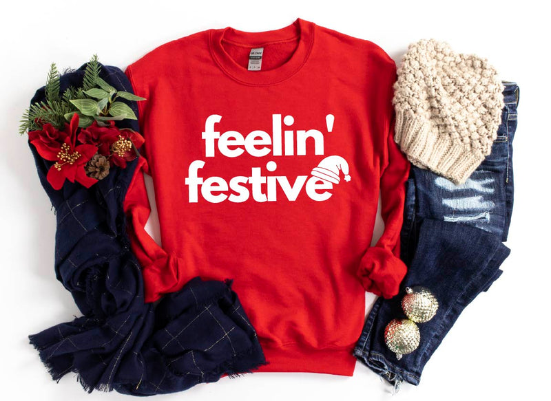 Feelin' Festive - Unisex Fleece Pullover-Little Hooligans Co.