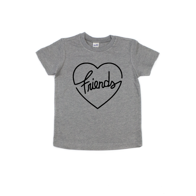 Friend (heart) - Kids Tee-Little Hooligans Co.