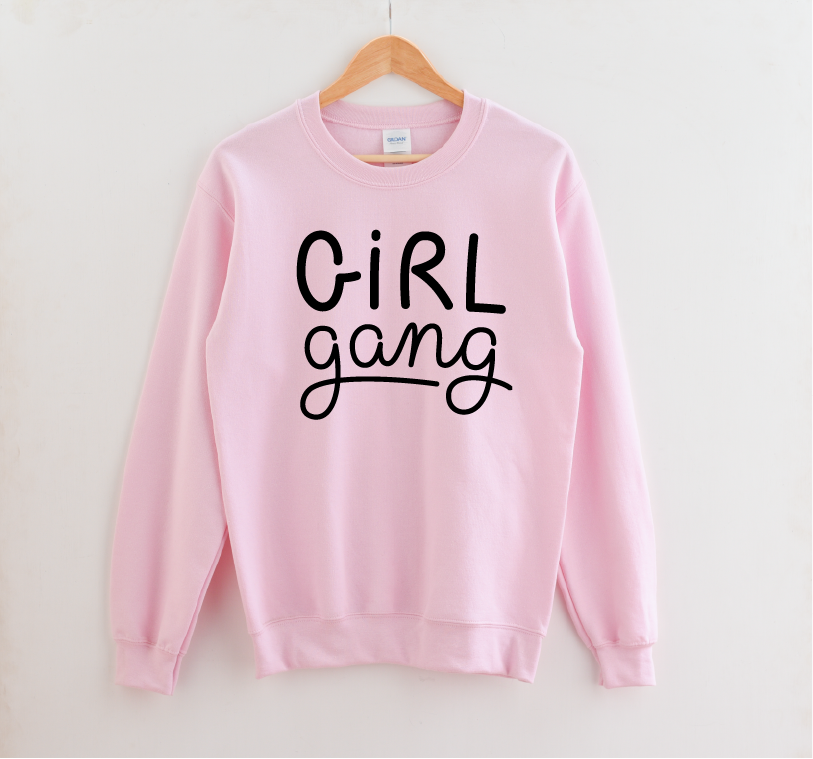 Girl Gang - Unisex Pink Pullover-Little Hooligans Co.