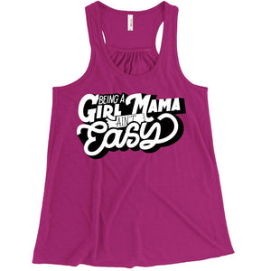 Girl Mama - Womens Berry Tank-Little Hooligans Co.