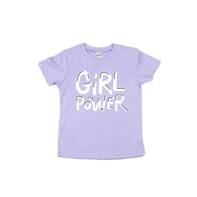 Girl Power - Lilac Tee - Little Hooligans Co.