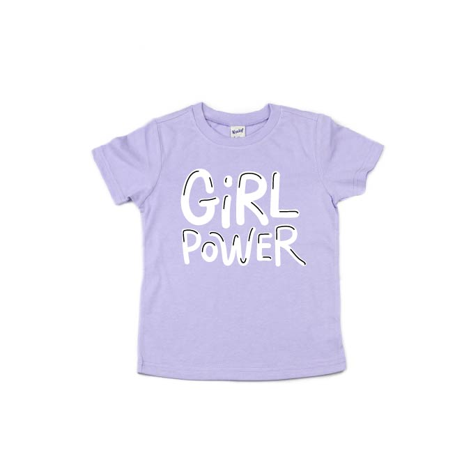Girl Power - Lilac Tee-Little Hooligans Co.