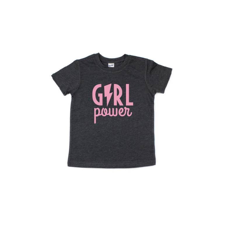 Girl Power (Bolt) - Kids Tee-Little Hooligans Co.