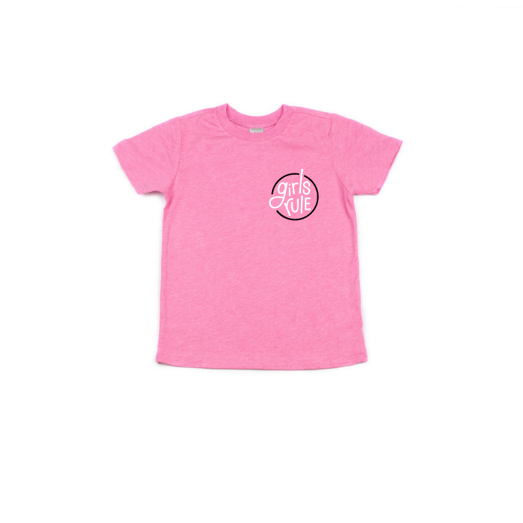 Girls Rule - Hot Pink Tee-Little Hooligans Co.