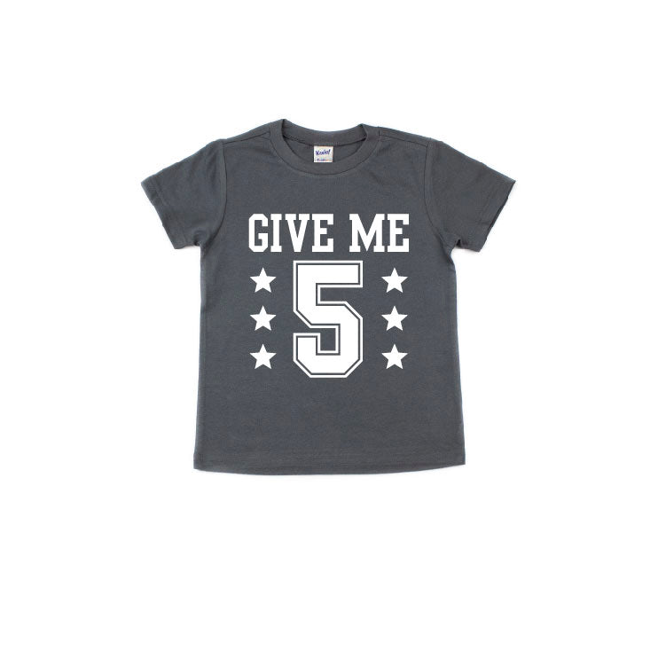 Give Me 5 - Charcoal Tee-Little Hooligans Co.
