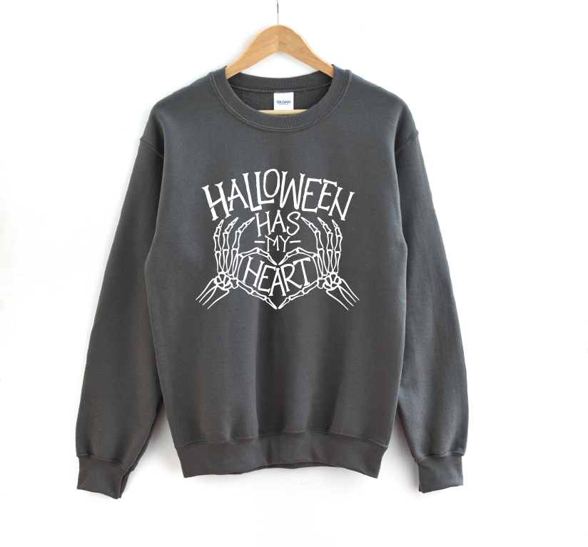 Halloween Has My Heart - Unisex Fleece Pullover-Little Hooligans Co.