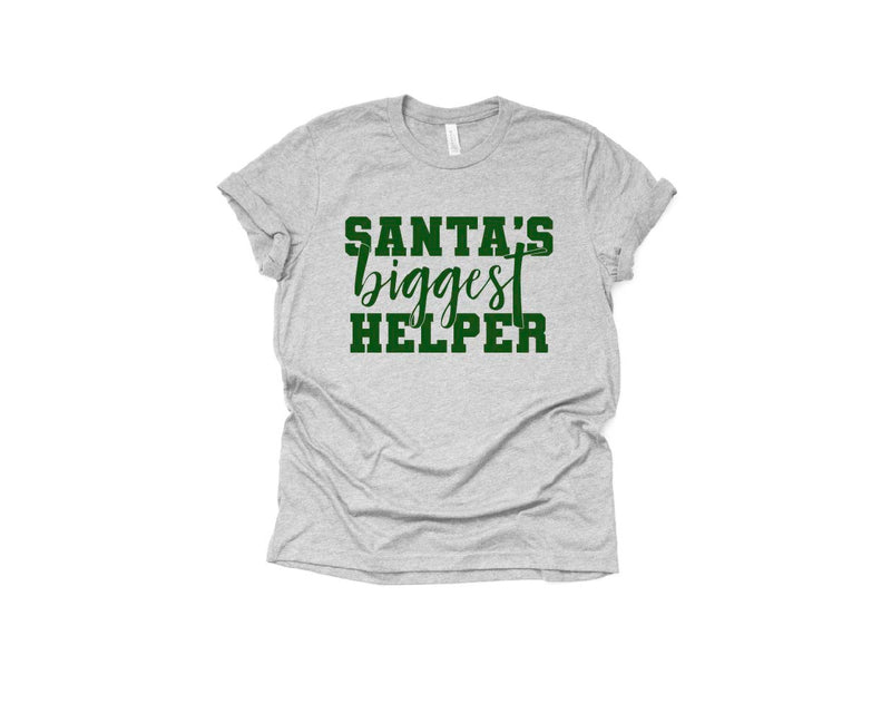 Santas Biggest Helper - Unisex Tee-Little Hooligans Co.