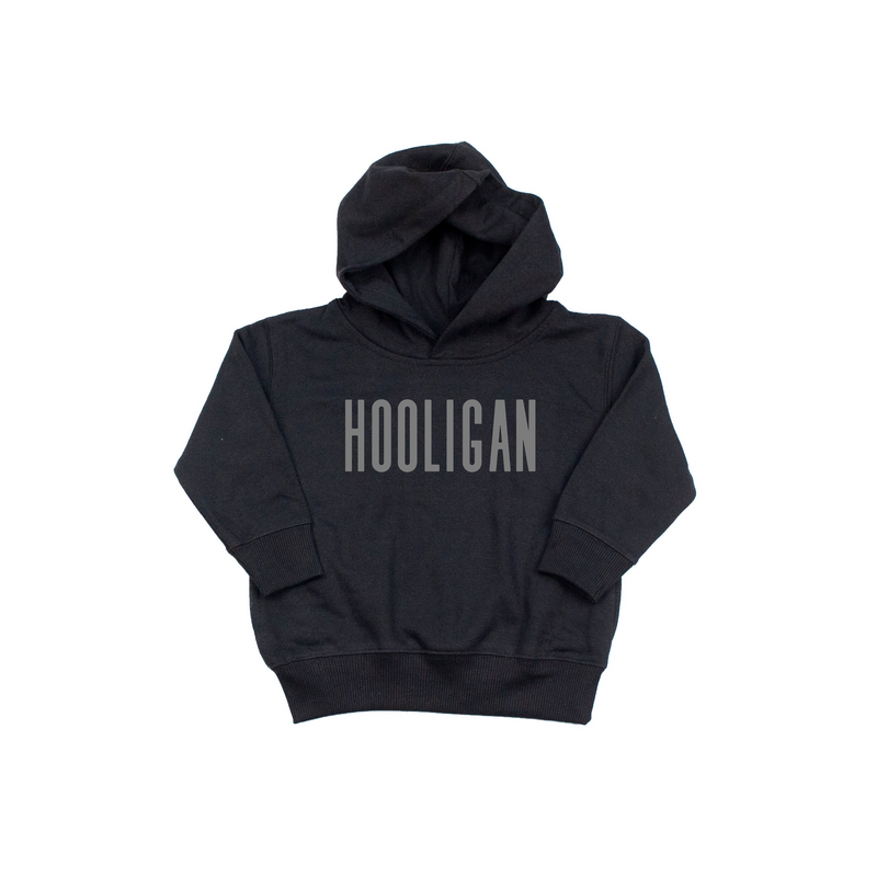 Hooligan - Black Hoodie-Little Hooligans Co.