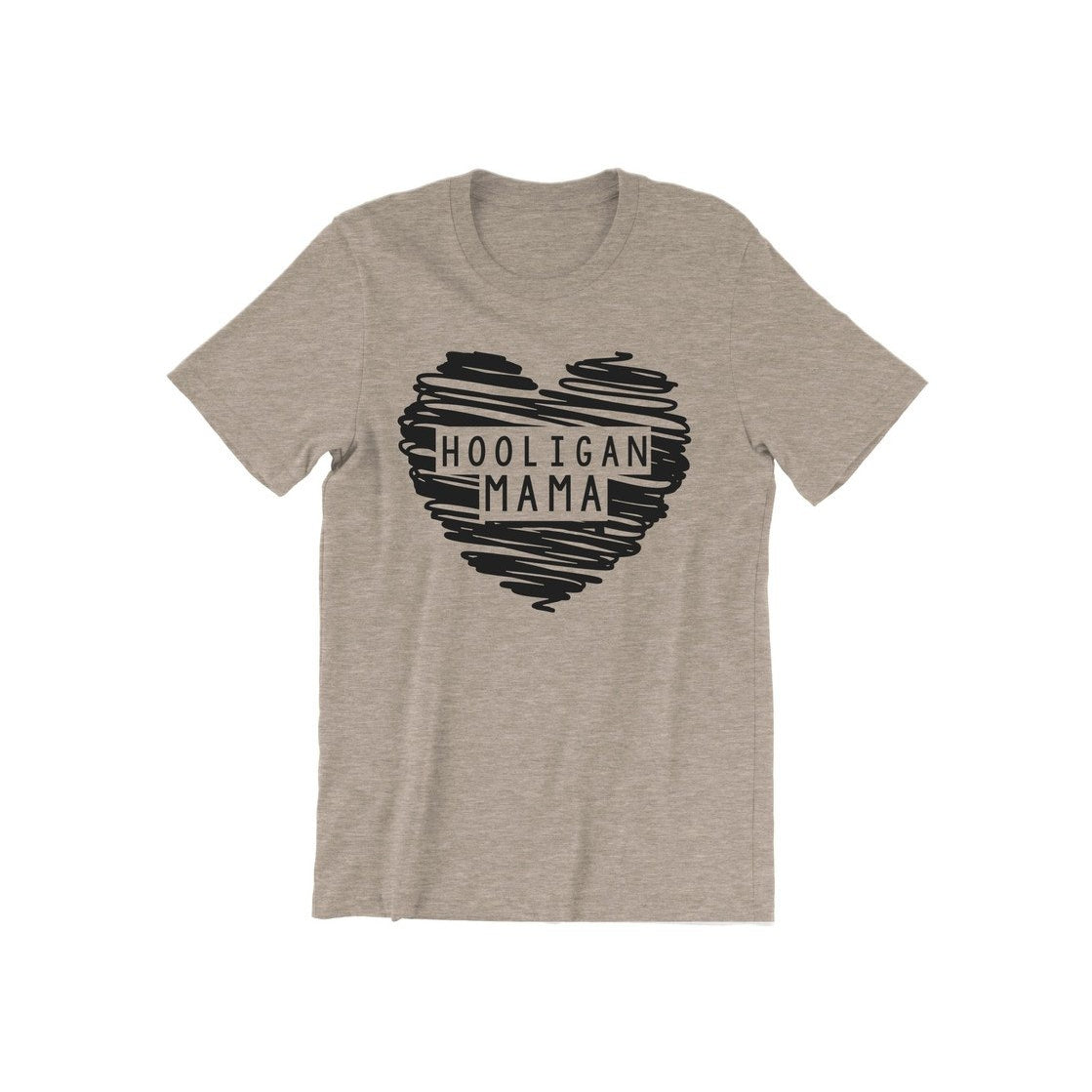 Hooligan Mama - Oatmeal Tee-Little Hooligans Co.