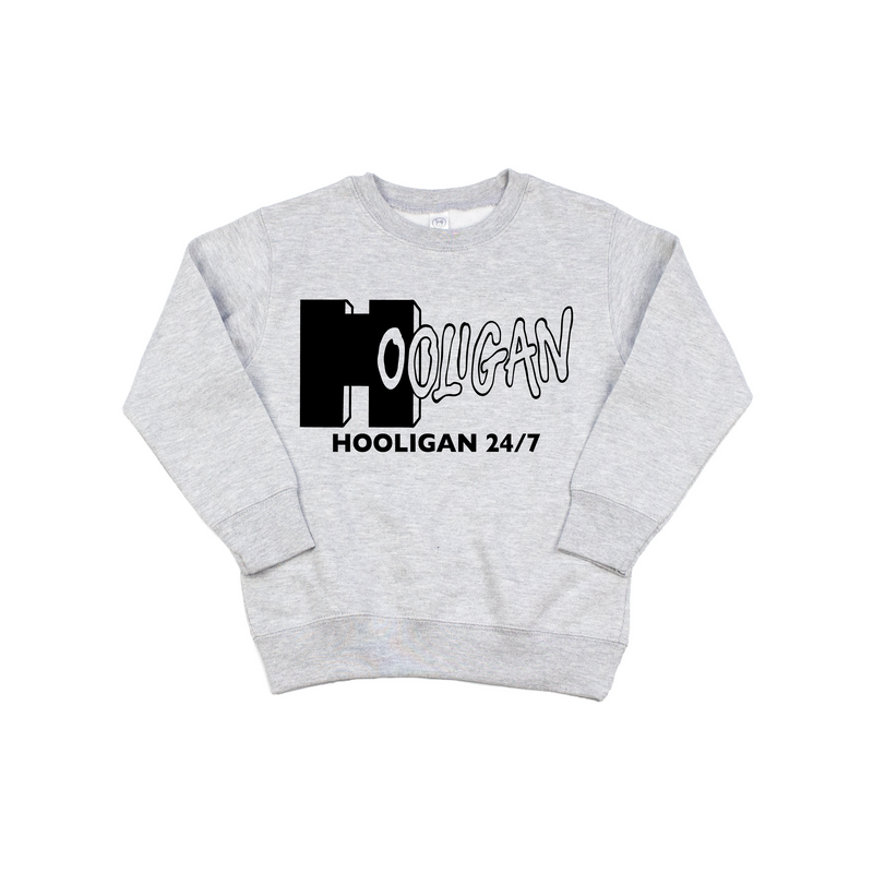 Hooligan 24/7 - Grey Pullover-Little Hooligans Co.
