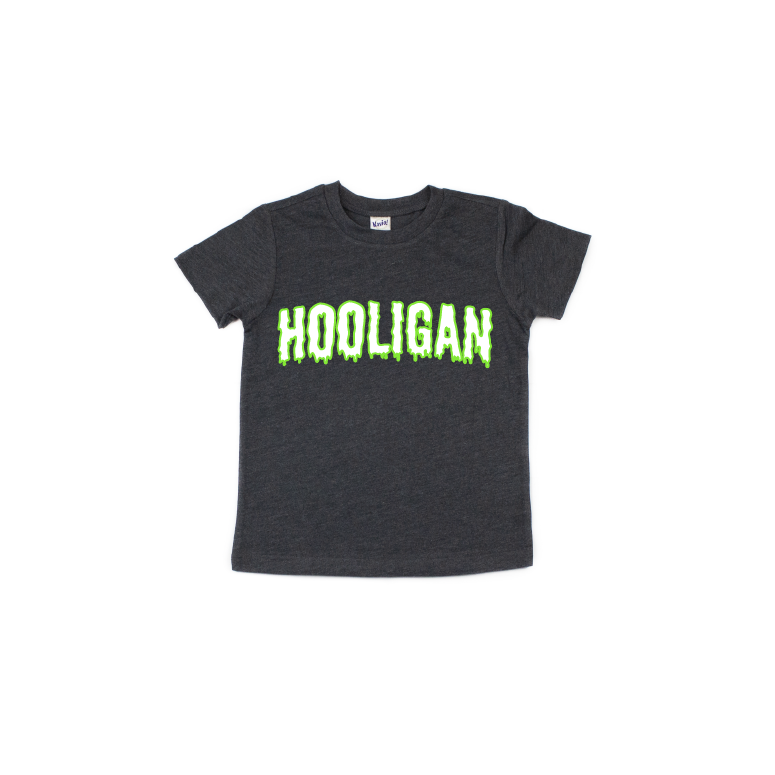 Hooligan (Slime) - Kids Charcoal Tee-Little Hooligans Co.