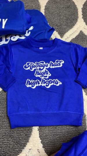 High Hopes - Royal Pullover-Little Hooligans Co.