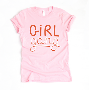 Girl Gang - Unisex Pink Crewneck-Little Hooligans Co.