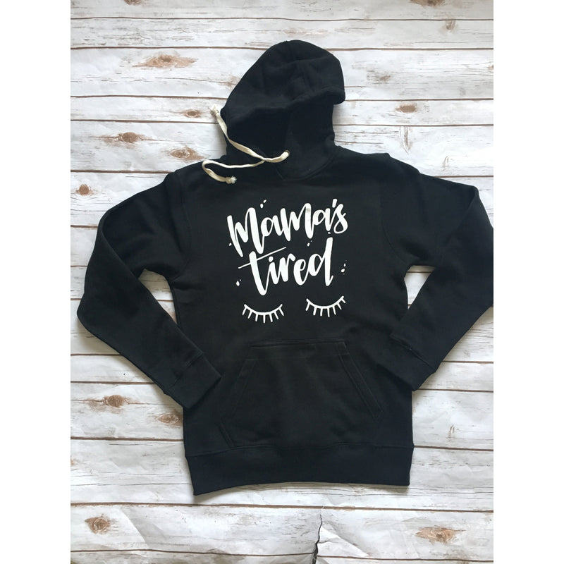 Mama Tired - Black Unisex Fleece-Little Hooligans Co.