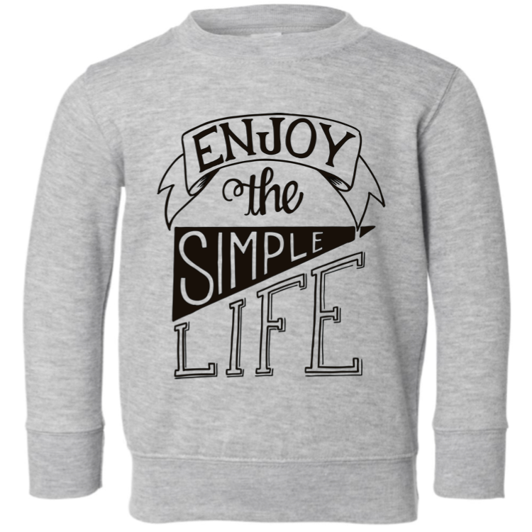 Enjoy the Simple Life - Grey Kids Pullover-Little Hooligans Co.