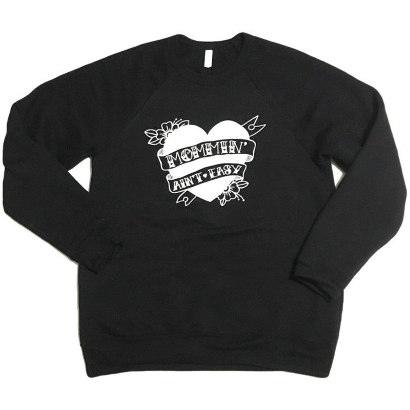 Mommin' Ain't Easy - Fleece Pullover-Little Hooligans Co.