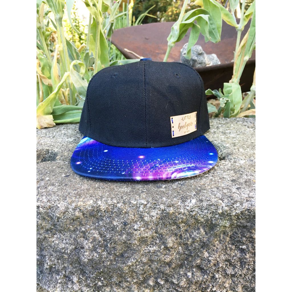 Blue Galaxy - Toddler SnapBack *NO LEATHER TAG*-Little Hooligans Co.