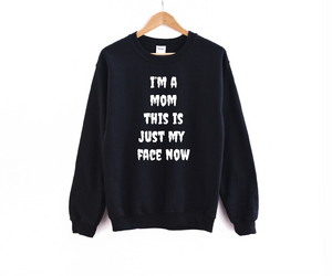 Mom Face (Halloween White Ink) - Unisex Pullover-Little Hooligans Co.