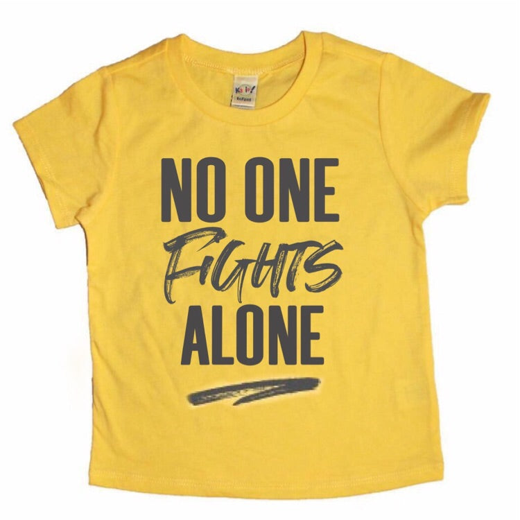 No One Fights Alone - Kids (Yellow) - Little Hooligans Co.