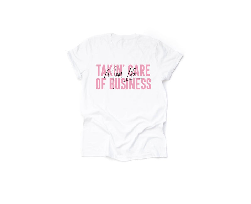 Taking Care Of Business - Unisex White Tee-Little Hooligans Co.