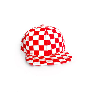 Red Checkered Snapback-Little Hooligans Co.