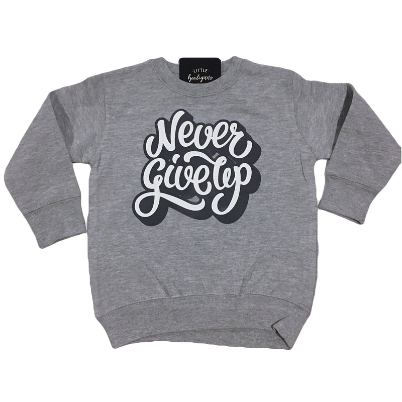 Never Give Up - Kids Fleece Pullover-Little Hooligans Co.