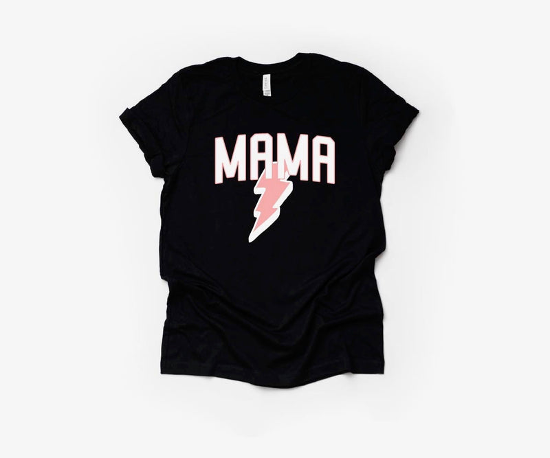 MAMA (Bolt) - Unisex Black Tee-Little Hooligans Co.