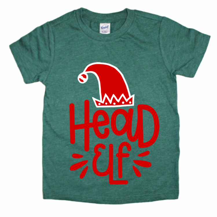 Head Elf Tee - Kids {pre-order}-Little Hooligans Co.
