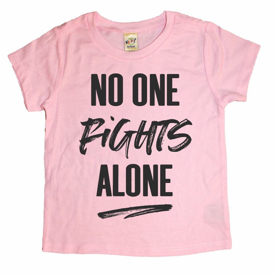 No One Fights Alone - Kids (Pink or Grey)-Little Hooligans Co.