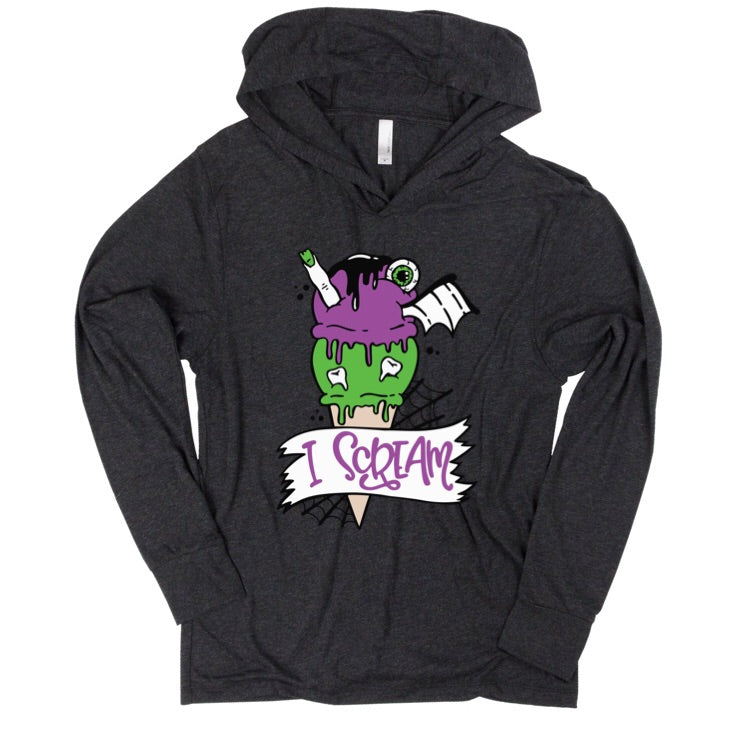 I Scream Ice Cream - Unisex Lightweight Hoodie - Little Hooligans Co.