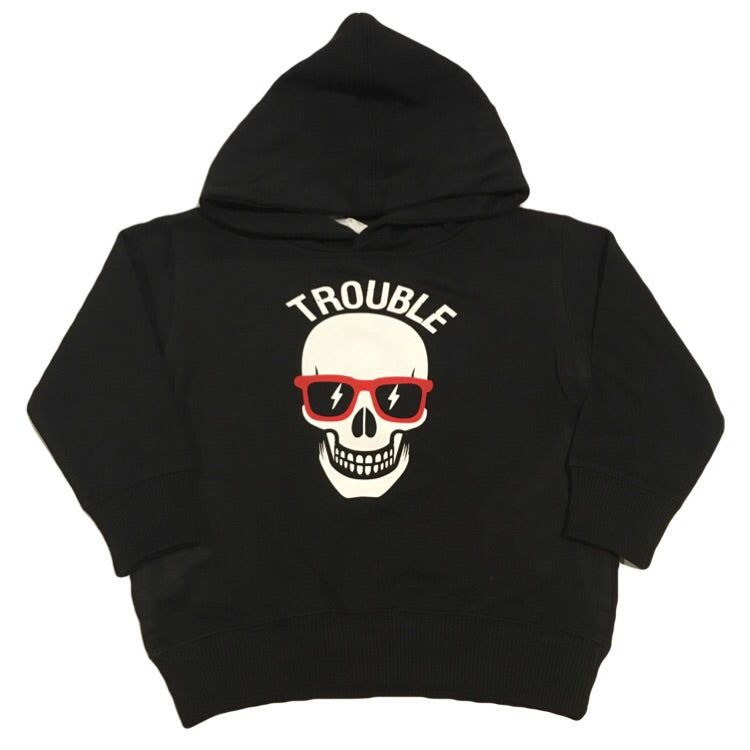 Trouble - Fleece Hoodie-Little Hooligans Co.