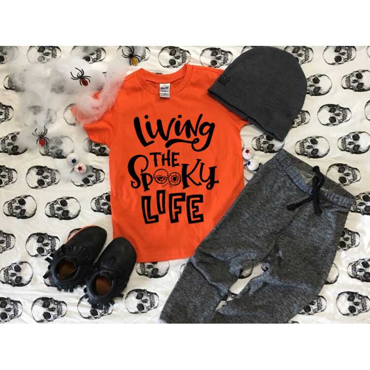 Living the Spooky Life - Kids Tee-Little Hooligans Co.