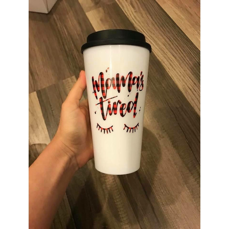 Mamas Tired - Buffalo Plaid Mug