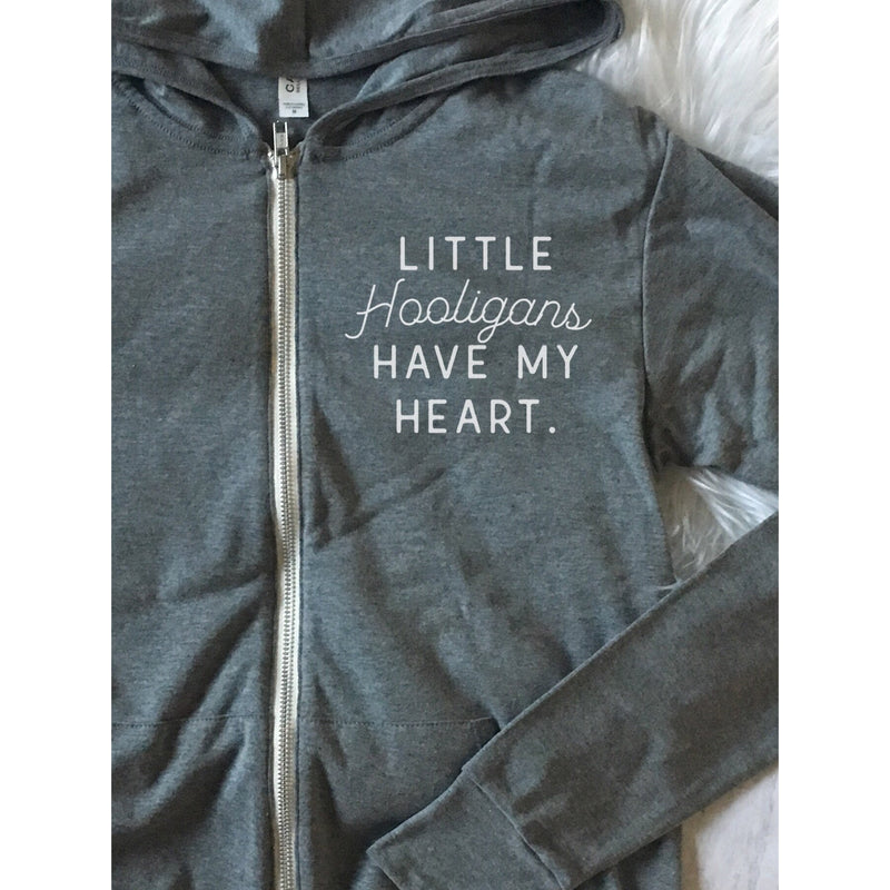 Little Hooligans Have My Heart - Unisex Lightweight Zip Up - Little Hooligans Co.