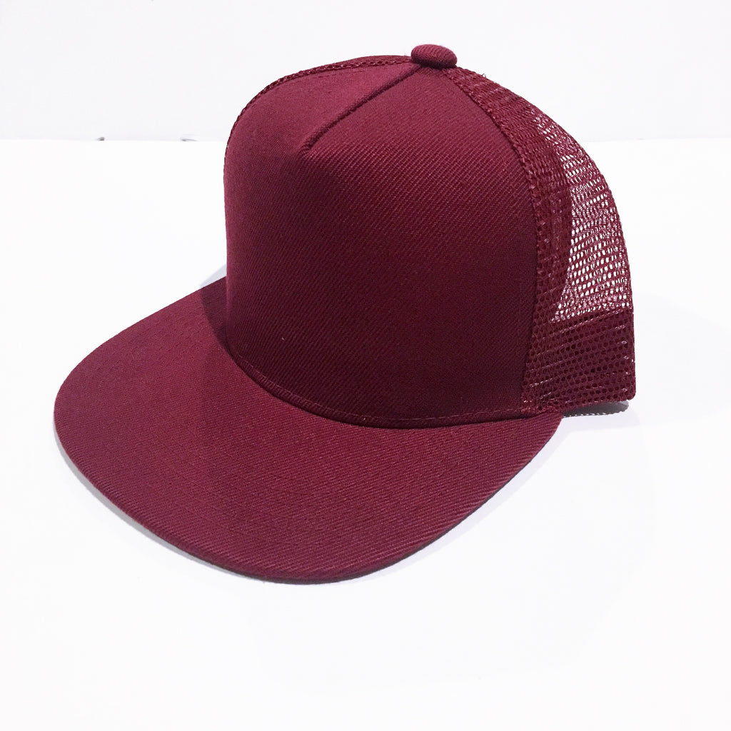 Maroon Meshback Snapback - Kids-Little Hooligans Co.