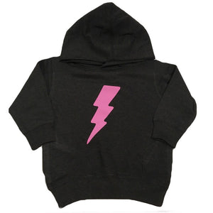 Pink Lightening Bolt - Fleece Hoodie - Little Hooligans Co.