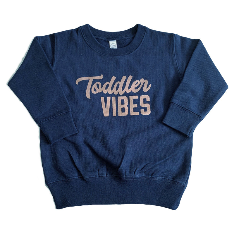 Toddler Vibes - Navy + Rose Gold Pullover-Little Hooligans Co.