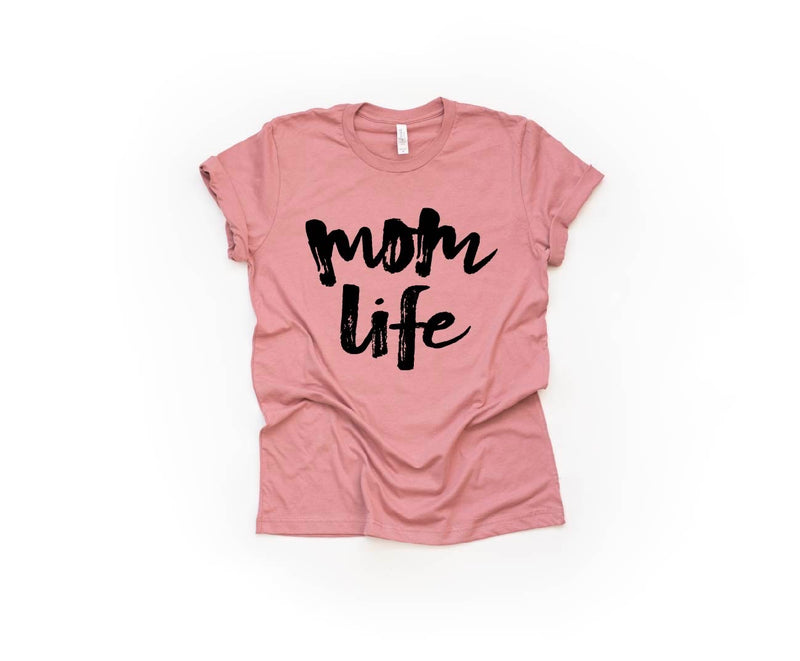 Mom Life - Unisex Mauve Tee-Little Hooligans Co.