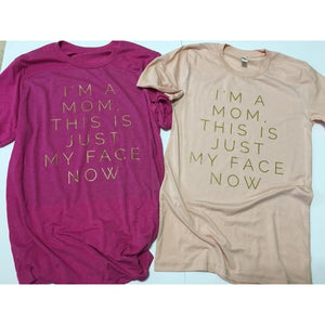 I'm A Mom, This Is Just My Face Now - Triblend Unisex Tee-Little Hooligans Co.