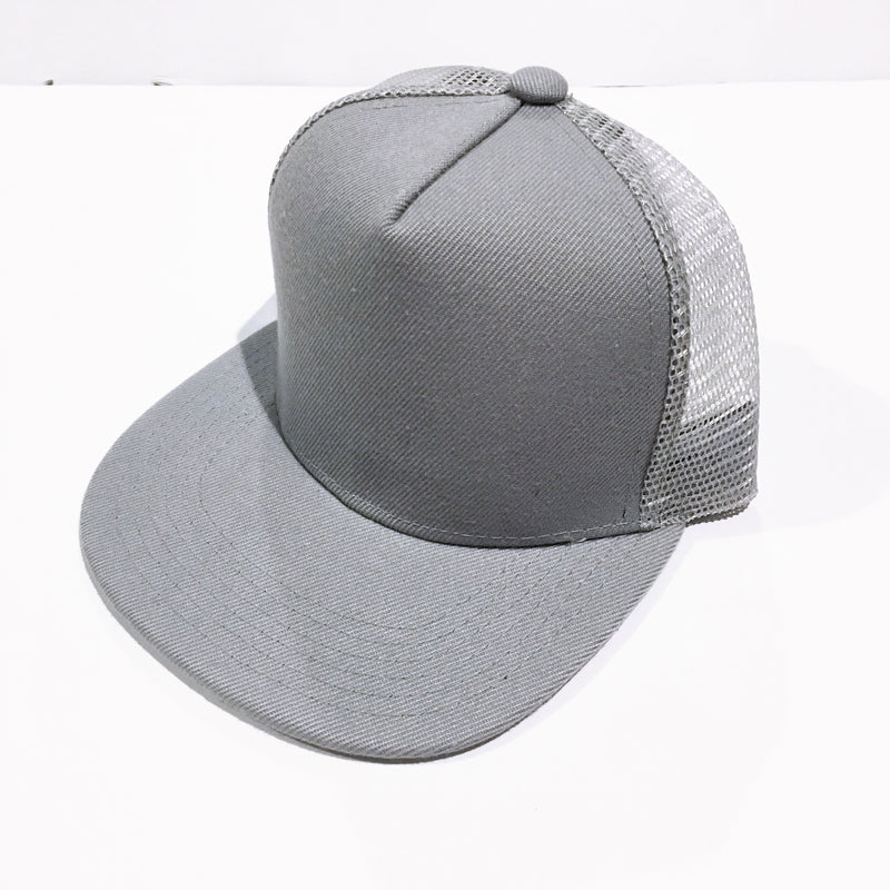 Grey Meshback Snapback - Kids-Little Hooligans Co.