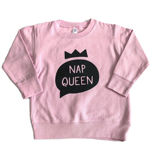 Nap Queen - Pink Pullover-Little Hooligans Co.