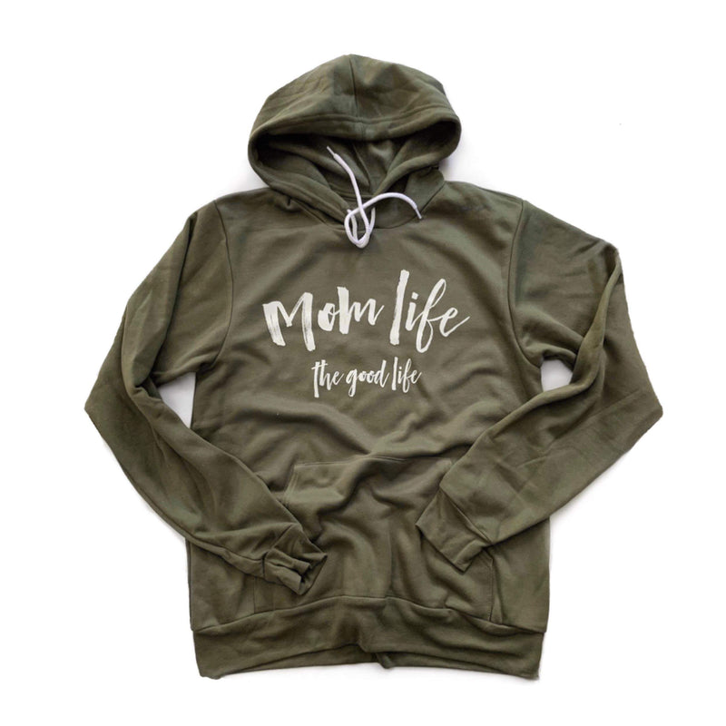 Mom Life - Unisex Army Fleece Hoodie-Little Hooligans Co.
