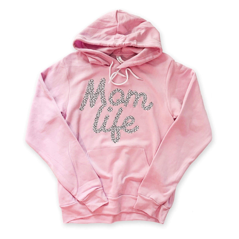 Mom Life (White Leopard) - Unisex Lilac Hoodie-Little Hooligans Co.