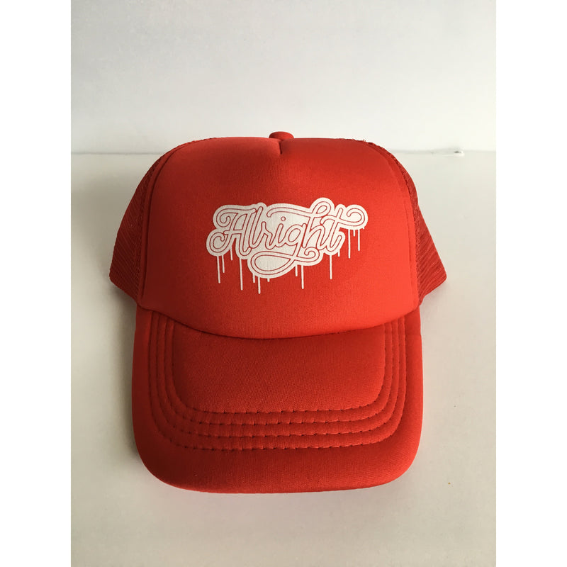 Alright - White + Red Snapback-Little Hooligans Co.