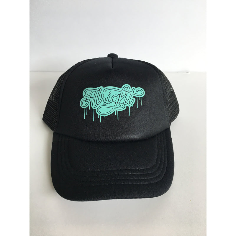 Alright - Teal + Black Snapback-Little Hooligans Co.