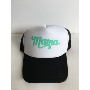 Mama - Mint + Black/White Snapback - Little Hooligans Co.