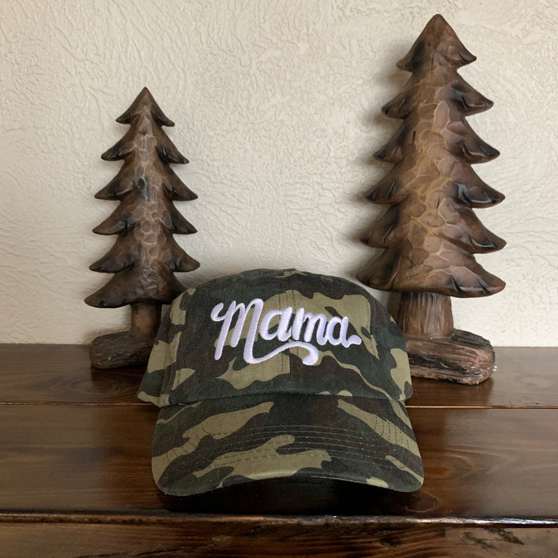 Mama - Camo Embroidered Hat-Little Hooligans Co.