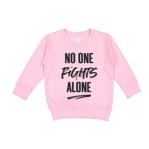 No One Fights Alone - Kids Pullover-Little Hooligans Co.