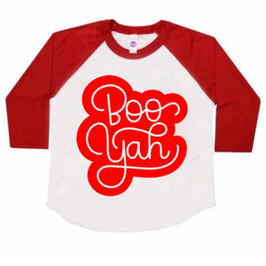 Boo Yah - Kids Raglan - Little Hooligans Co.