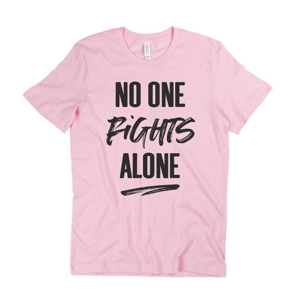 No One Fights Alone - Adult Unisex (Pink Or Grey)-Little Hooligans Co.
